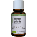 Huile essentielle de Menthe-poivrée bio France- Migraine, mal de tête, douleurs, insectes - Luxaromes 10ml