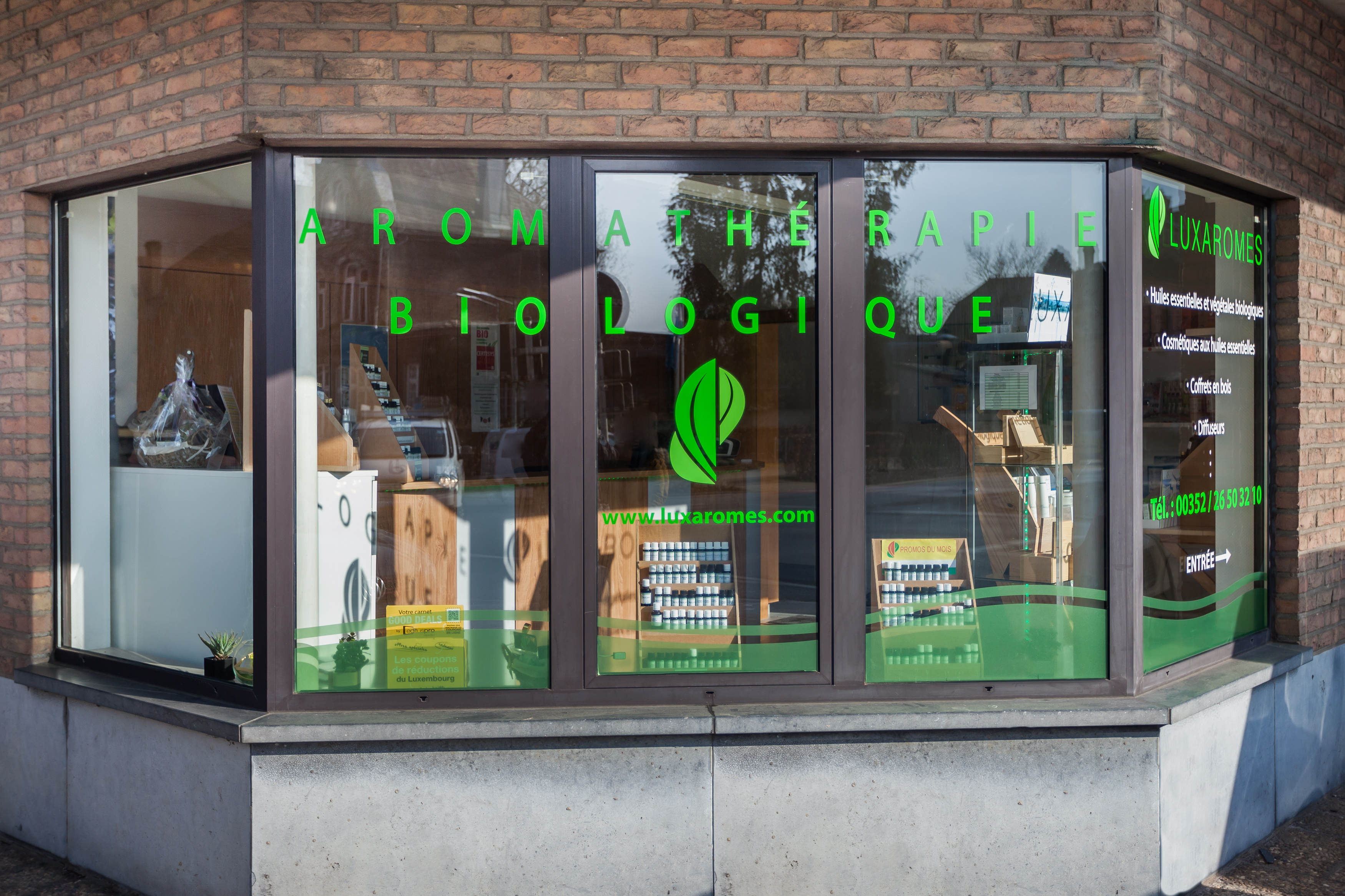 Vitrine Luxaromes-Bascharage (Luxembourg)