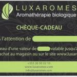 Chèque cadeau Huile essentielle, aromathérapie -  Achat